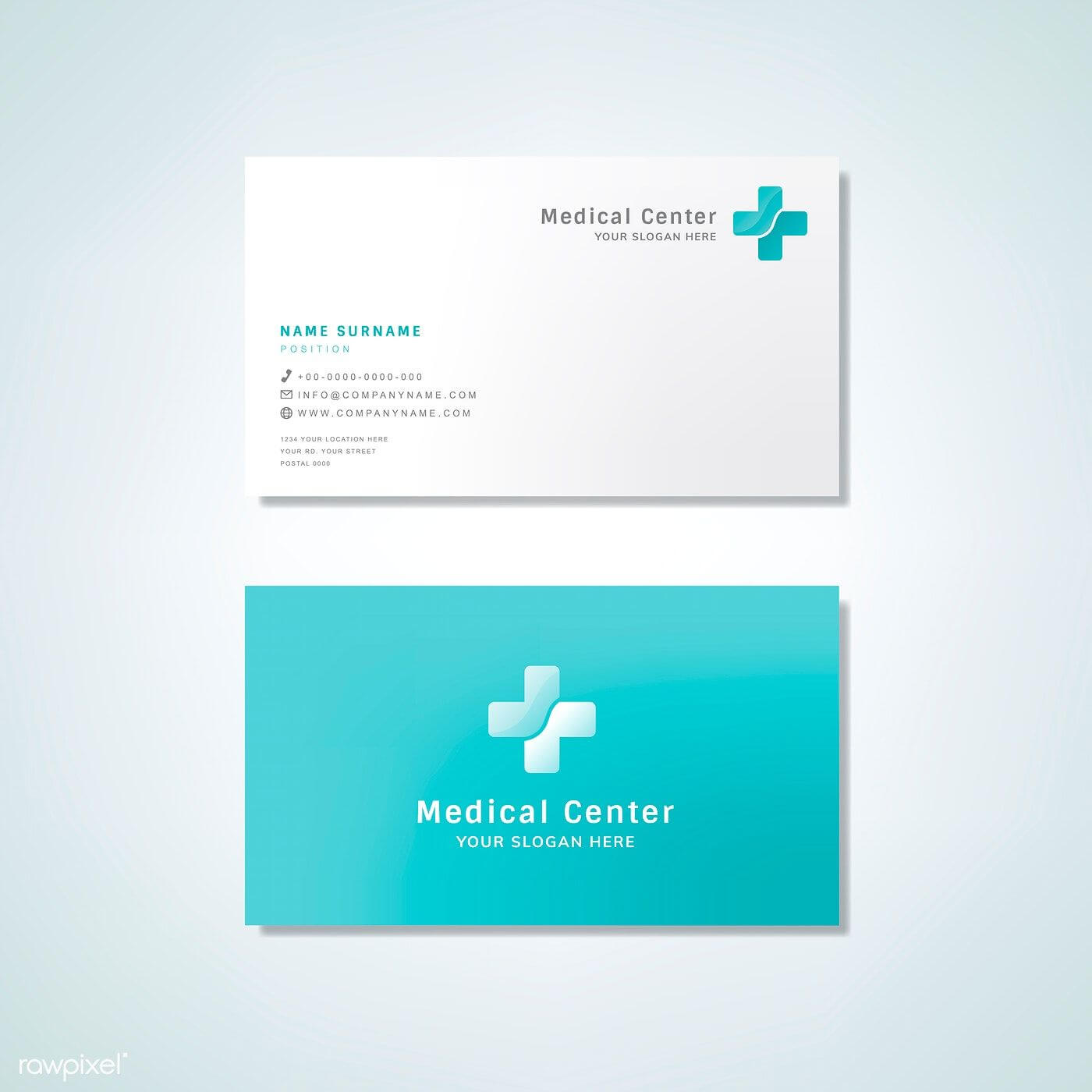Medical Professional Business Card Design Mockup | Free Regarding Medical Business Cards Templates Free