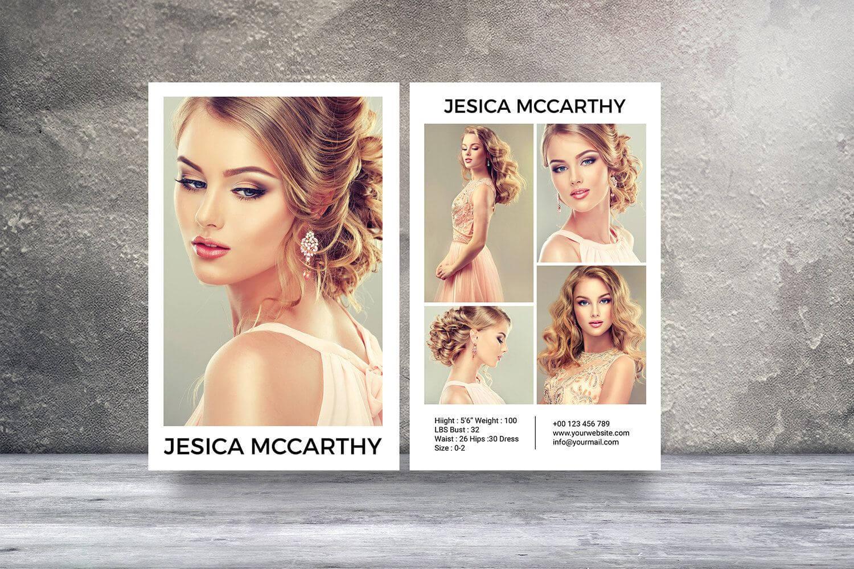 Modeling Comp Card | Fashion Model Comp Card Template With Free Model Comp Card Template