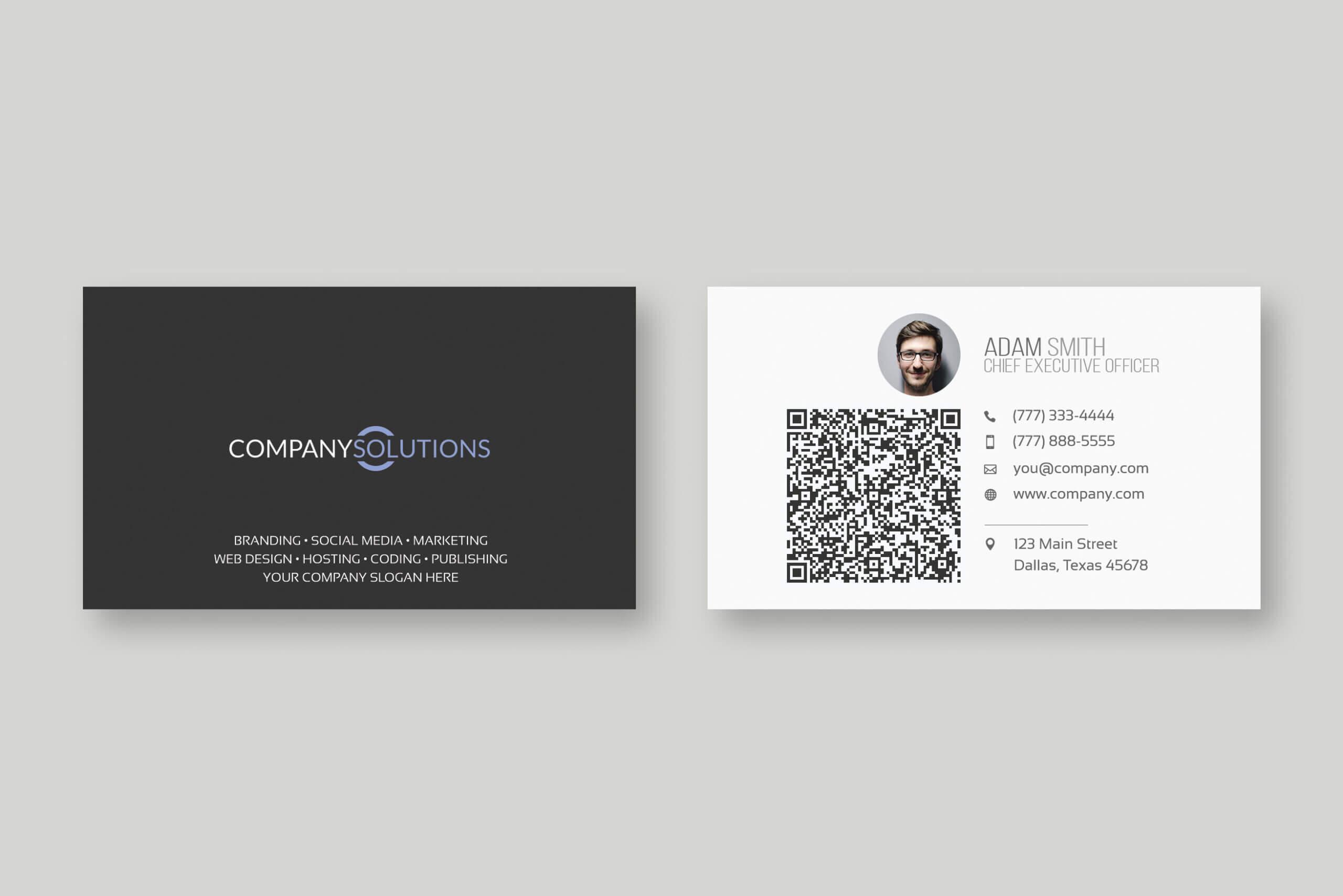 Modern Qr Code Business Card Template For Qr Code Business Card Template