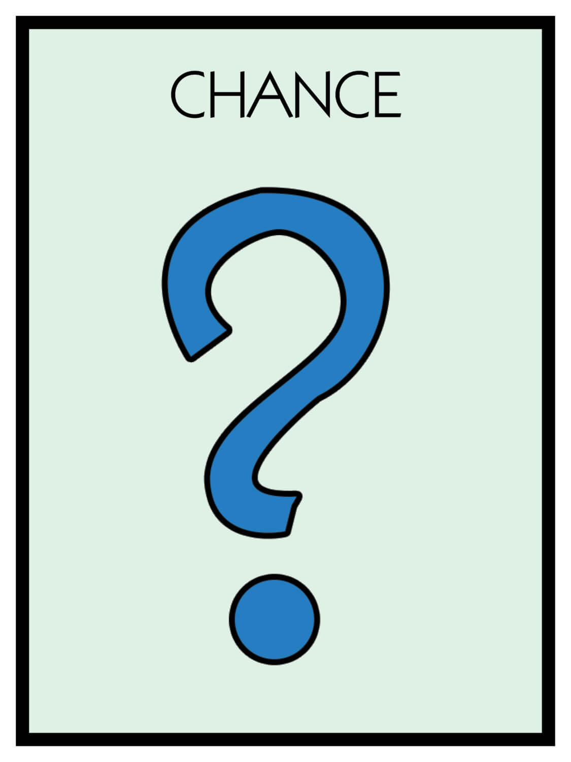 Monopoly Chance Cards Template ] - Card Template 187 Pertaining To Chance Card Template