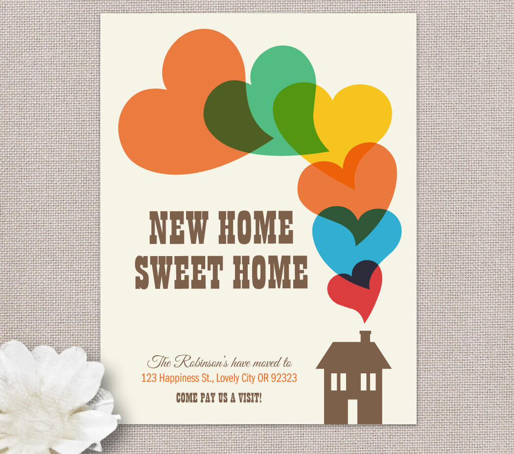 Moving Home Cards Template ] - Change Of Address New House Intended For Moving Home Cards Template