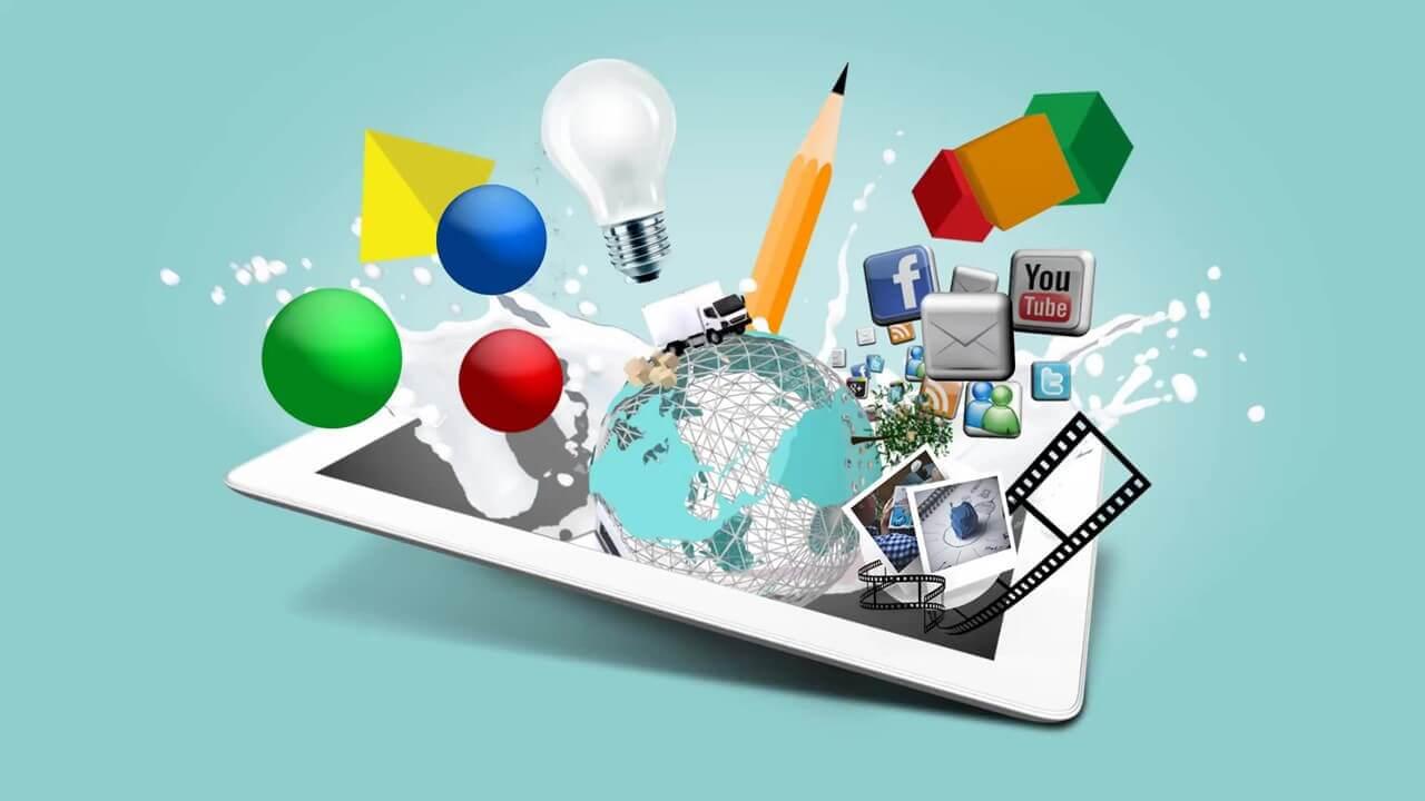 Multimedia Design Presentation Template   Prezibase Regarding Multimedia Powerpoint Templates