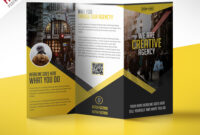 Multipurpose Trifold Business Brochure Free Psd Template throughout Free Three Fold Brochure Template