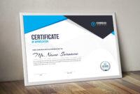 Nemesis Professional Landscape Certificate Template 000847 regarding Landscape Certificate Templates