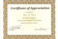 Perfect Attendance Award Certificate Template … | Perfect regarding Update Certificates That Use Certificate Templates