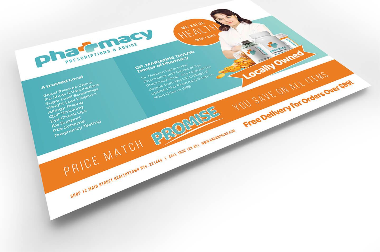 Pharmacy Flyer Template - Psd, Ai & Vector - Brandpacks Inside Pharmacy Brochure Template Free