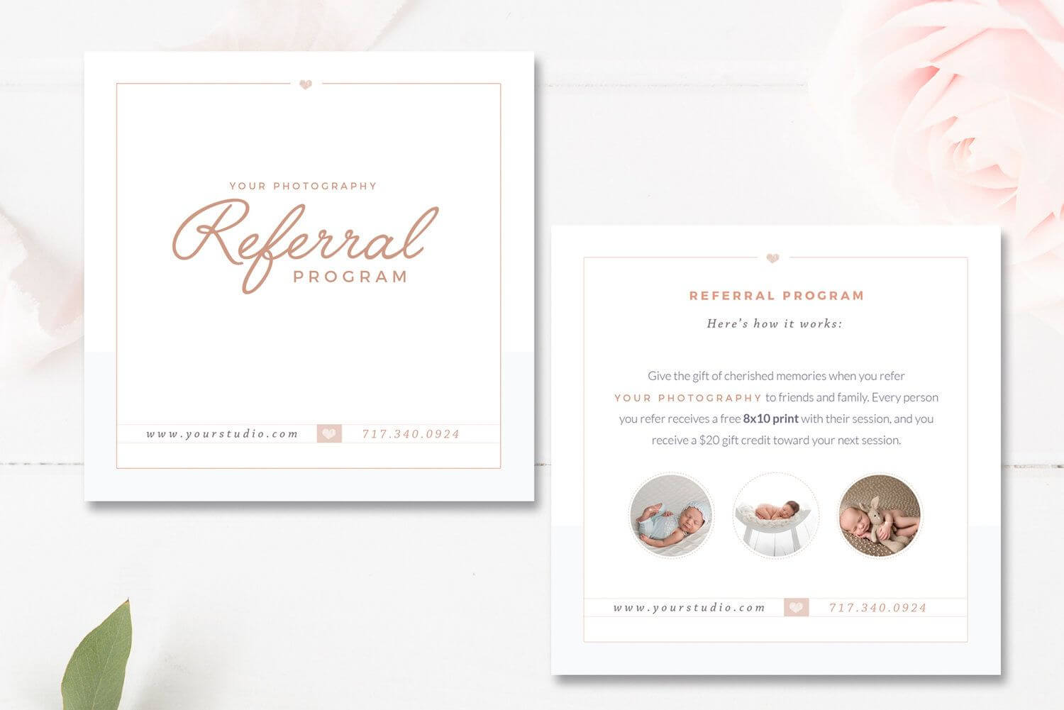 Photography Referral Card Templates, Referral Program Regarding Referral Card Template Free