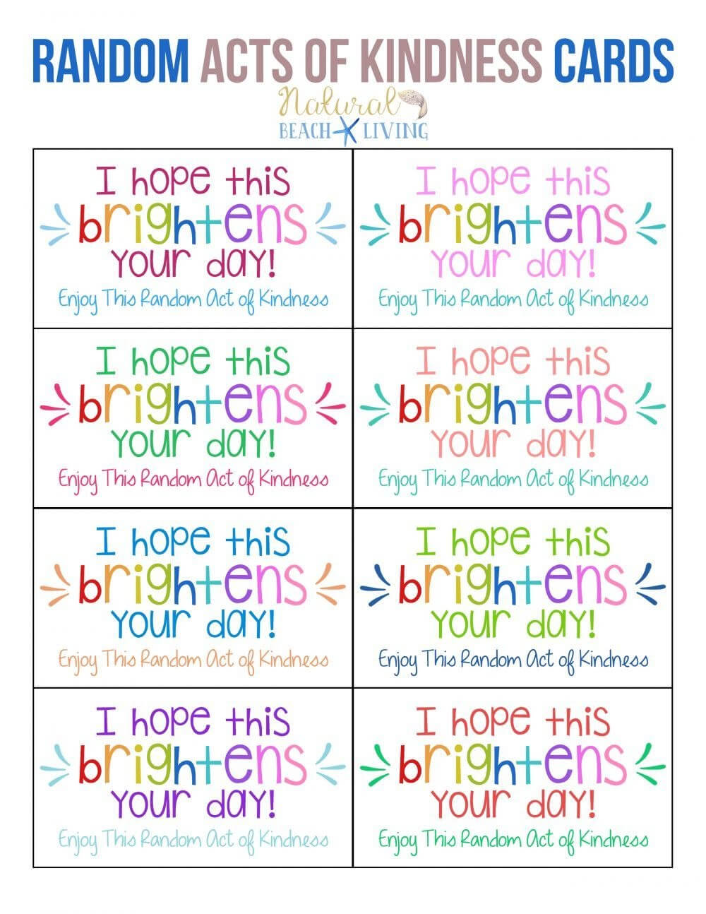 Pin On Card Template For Random Acts Of Kindness Cards Templates