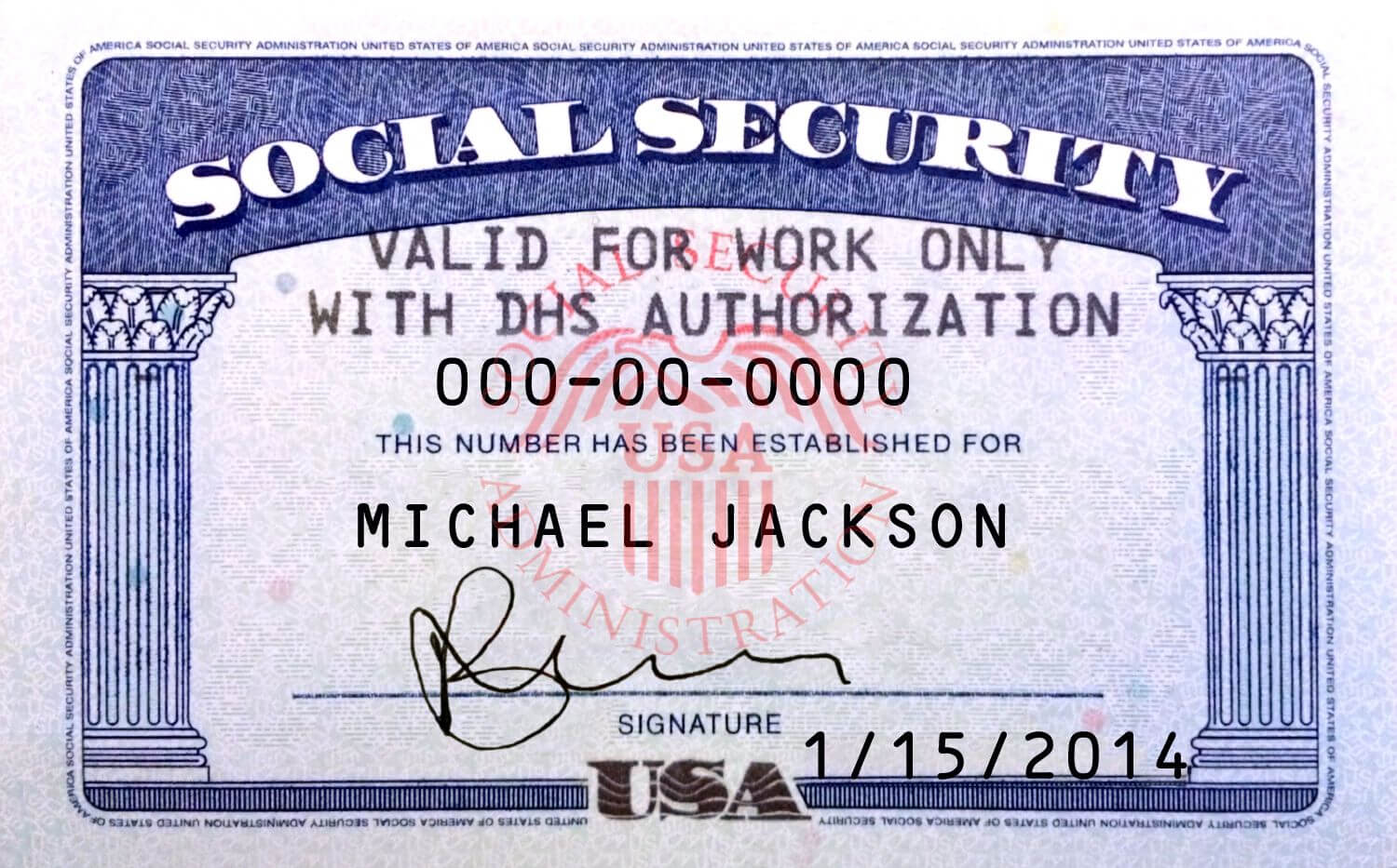 Pin On Novelty Psd Usa Ssn Template With Regard To Ssn Card Template