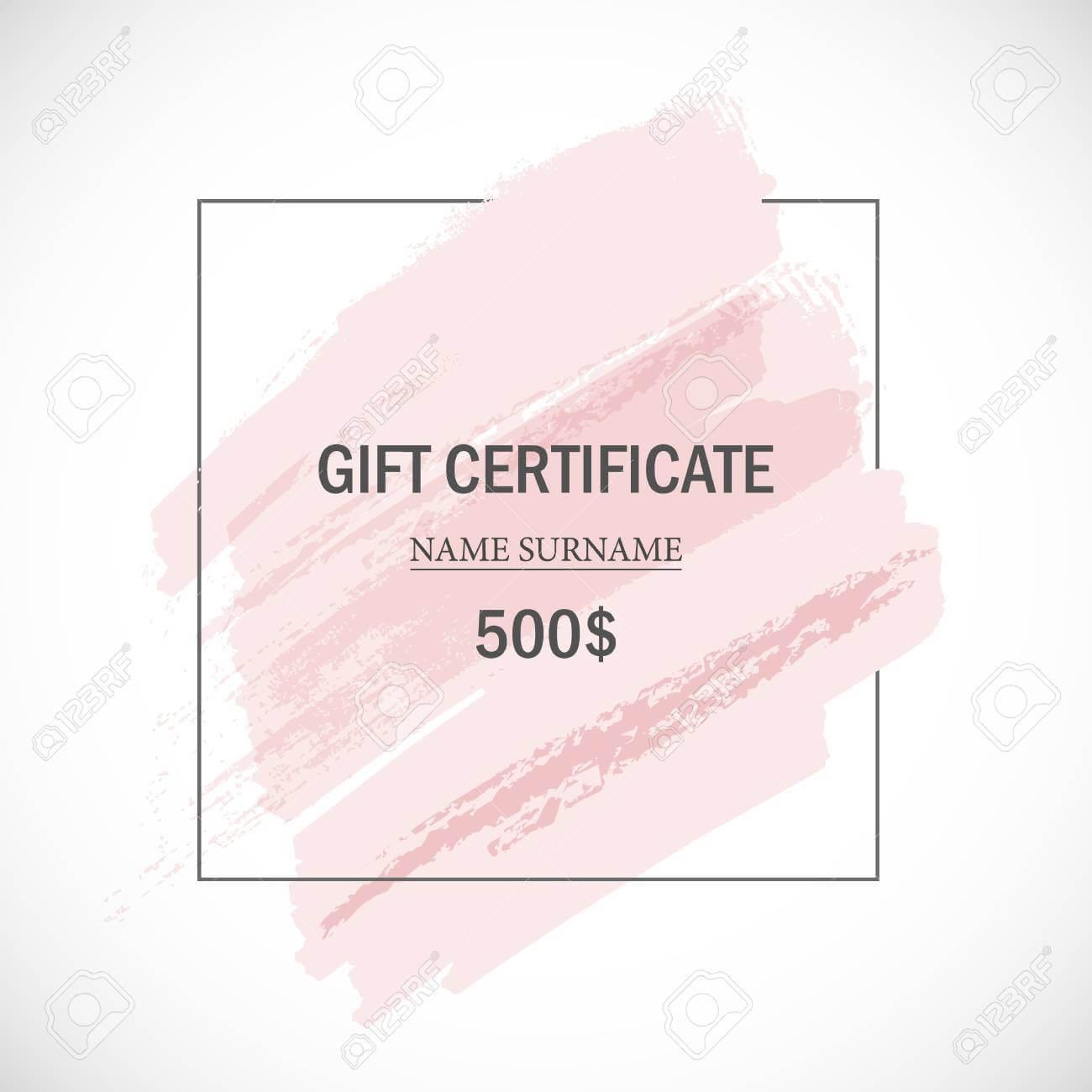 Pink Gift Certificate Template. Regarding Pink Gift Certificate Template