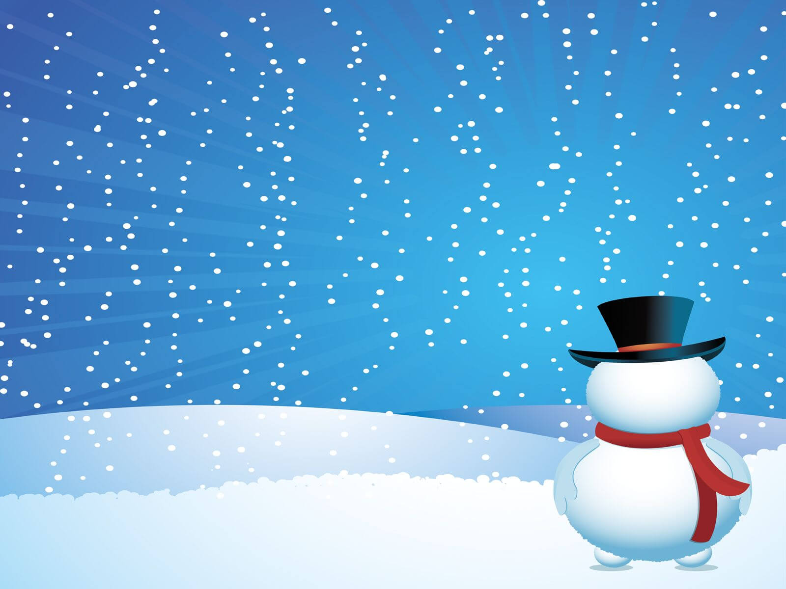 Pinterest With Snow Powerpoint Template