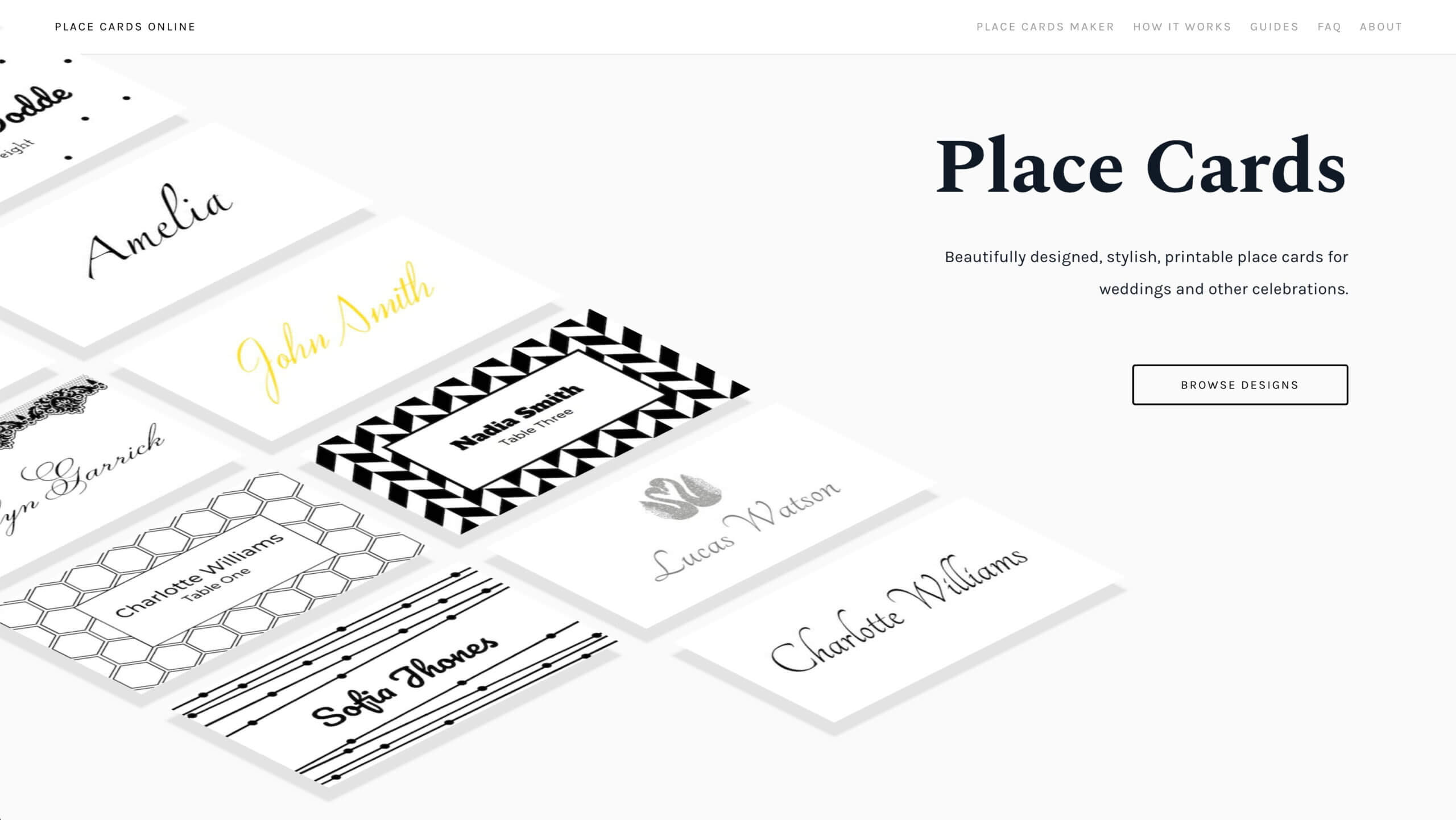 Place Cards Online - Place Cards Maker. Beautifully Designed Throughout Celebrate It Templates Place Cards