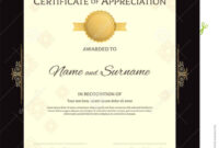 Portrait Luxury Certificate Template With Elegant Golden with regard to Elegant Certificate Templates Free