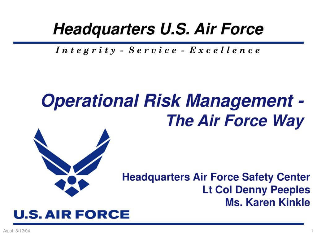 Ppt - Operational Risk Management - The Air Force Way Within Air Force Powerpoint Template