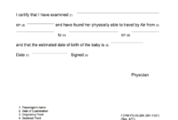 Pregnancy Fit To Fly Letter Sample - Fill Online, Printable with Fit To Fly Certificate Template