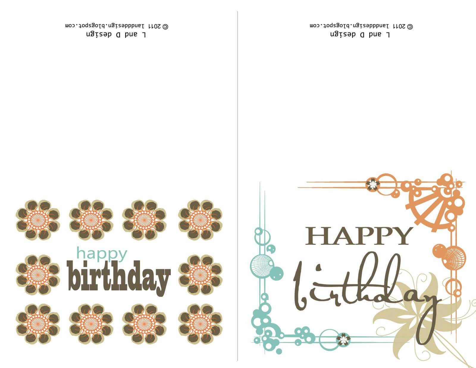 Printable Birthday Cards For Mom | Free Birthday Card With Regard To Mom Birthday Card Template