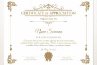 Printable Certificate Of Appreciation, Certificate Template Pertaining To Update Certificates That Use Certificate Templates