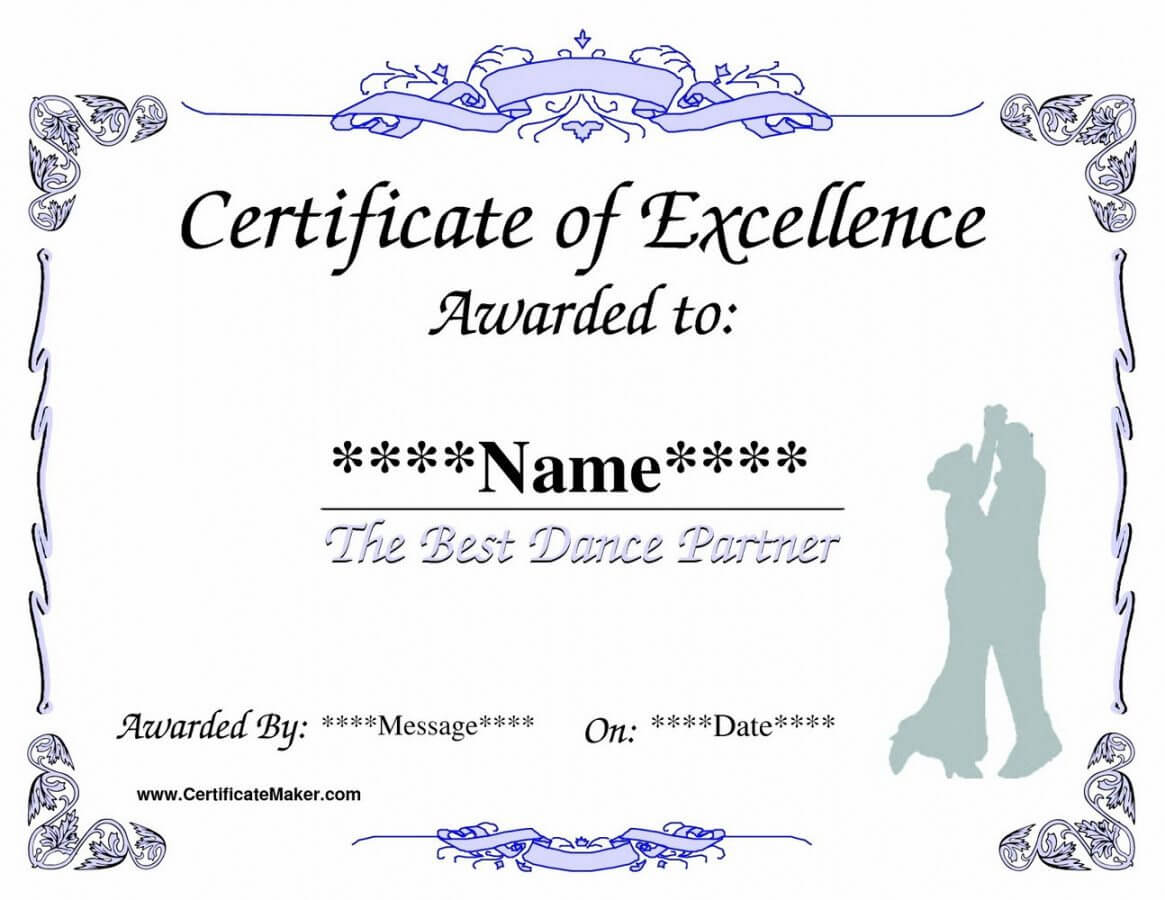 Printable Life Saving Award Certificate Template Templates Intended For Life Saving Award Certificate Template