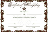 Printable Rusty Red Handfasting Certificate – Celtic – Pagan for Blank Marriage Certificate Template
