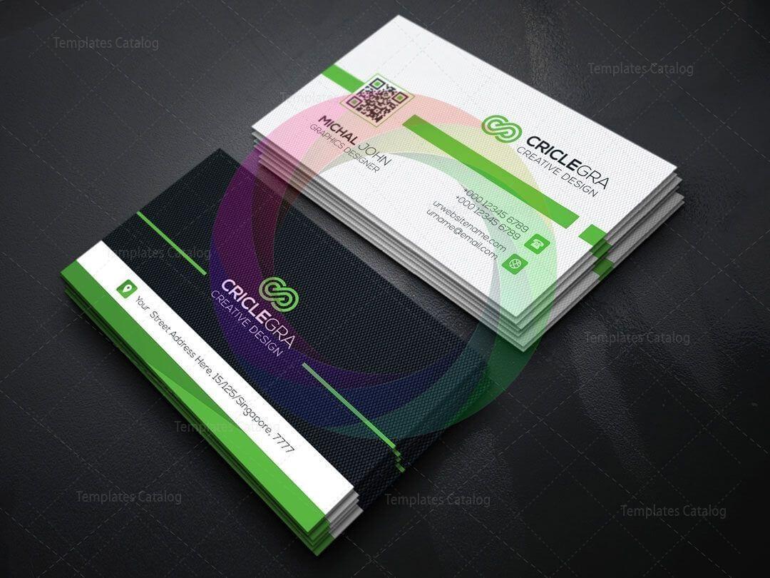 Qr Code Business Card Template | Business Card Design | Qr For Qr Code Business Card Template