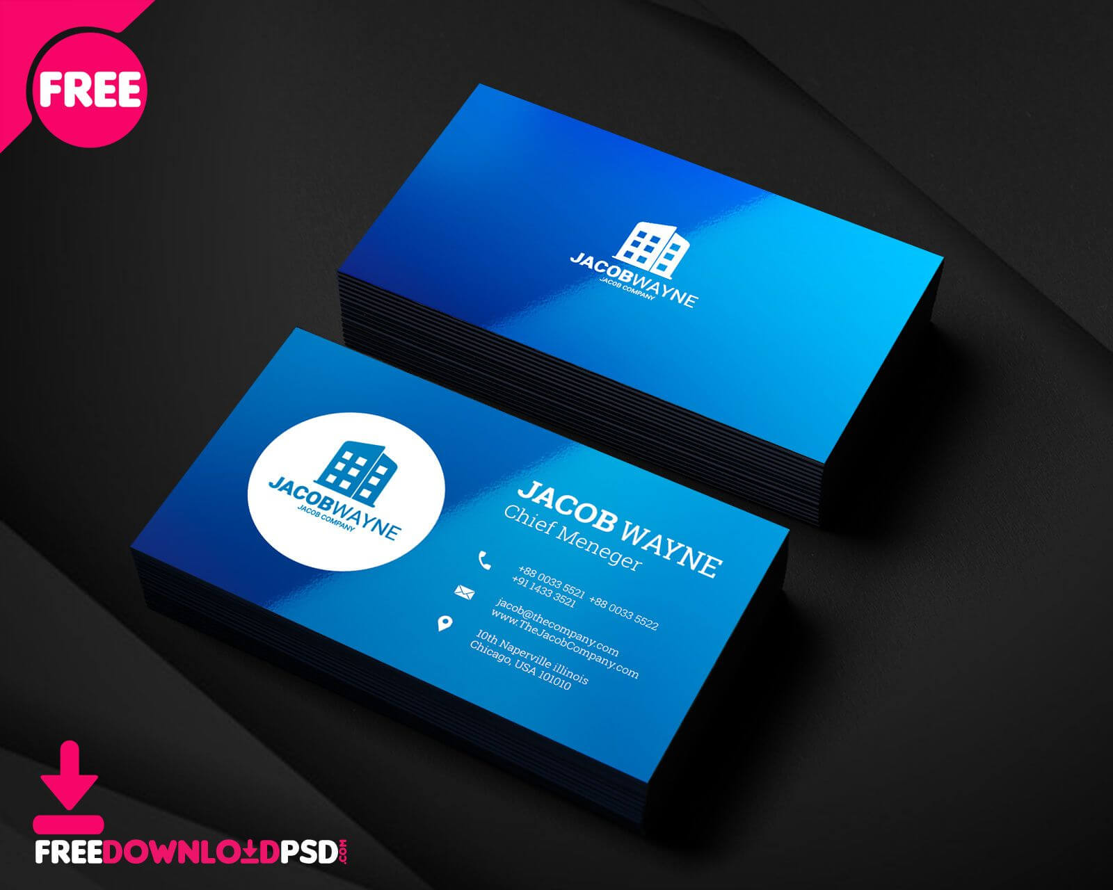 Real Estate Business Card Psd   Freedownloadpsd With Regard Pertaining To Name Card Photoshop Template