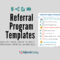 Real Life Referral Program Templates That You Can Steal With Referral Card Template Free