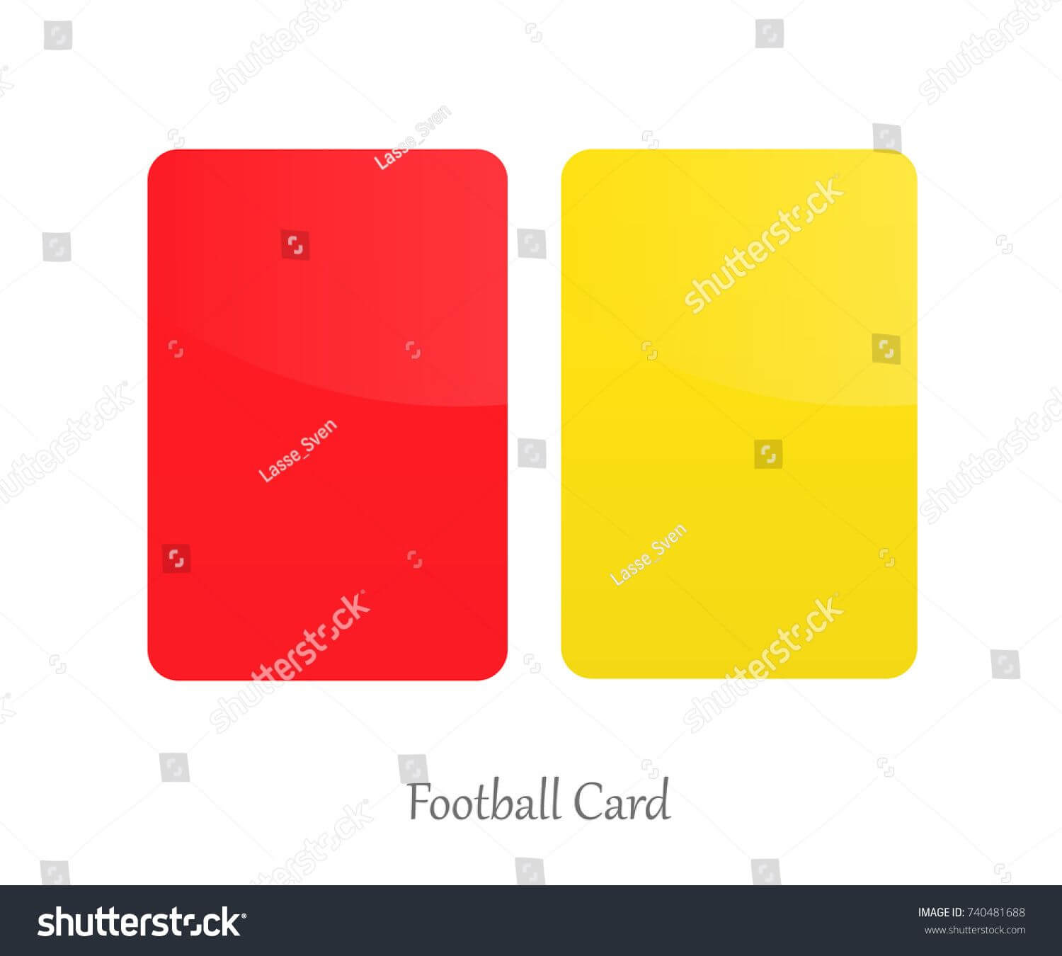 Red Yellow Card Football Referee Card Stock Vector (Royalty Within Football Referee Game Card Template
