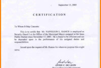 Sample Certification Letter Philippines Certificate regarding Officer Promotion Certificate Template
