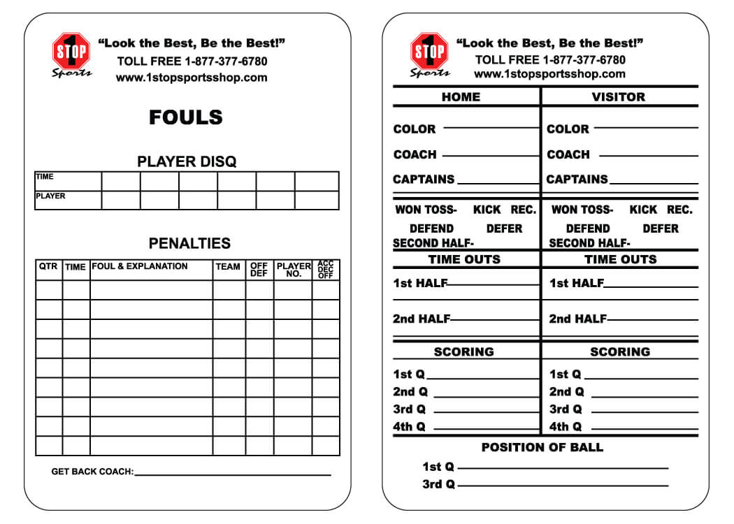 Soccer Referee Game Card Template ] - Ncsl Welcomes A New With Football Referee Game Card Template