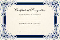 Sports Cetificate | Certificate Of Recognition A4 Thumbnail within Printable Certificate Of Recognition Templates Free