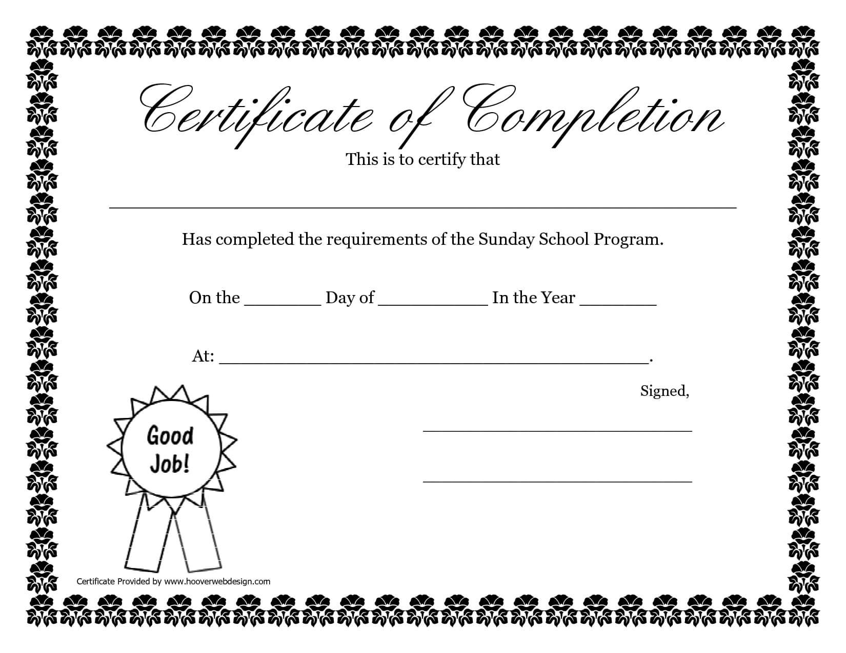 Sunday School Promotion Day Certificates | Sunday School Throughout Promotion Certificate Template