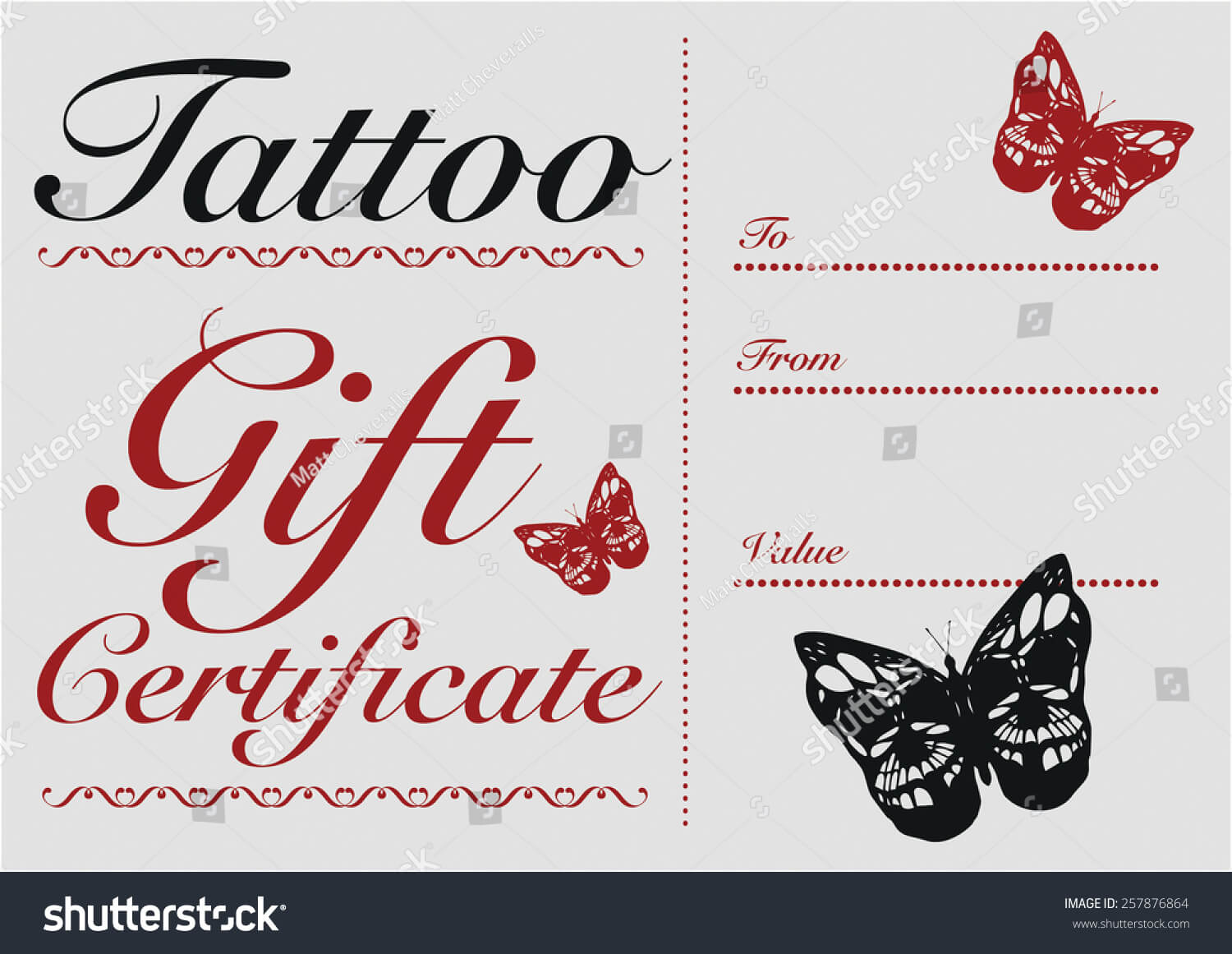 Tattoo Gift Certificate Template Free With Regard To Tattoo Gift Certificate Template