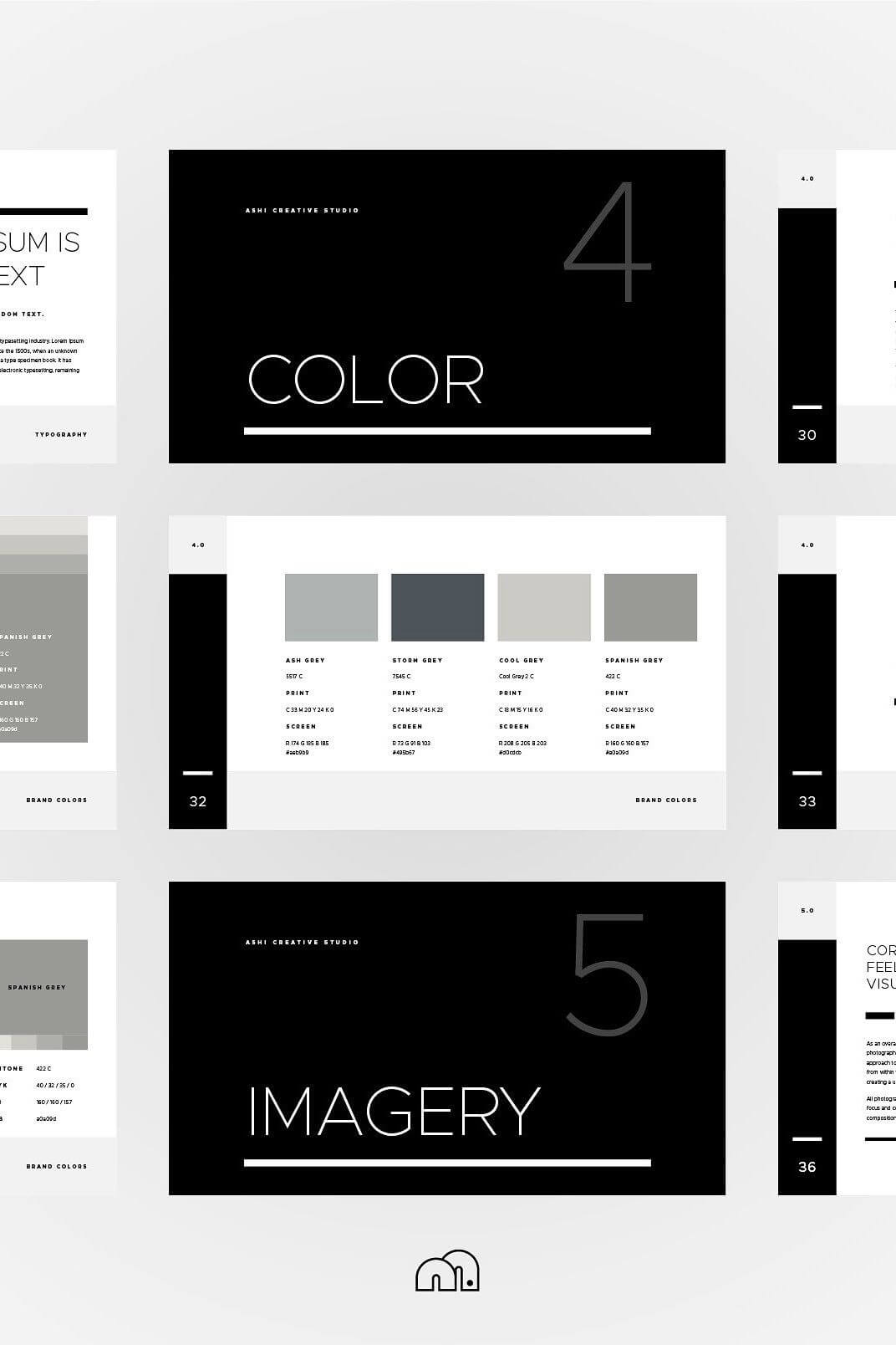The Ashi Brand Guidelines Powerpoint Template Is A Minimal Pertaining To Replace Powerpoint Template
