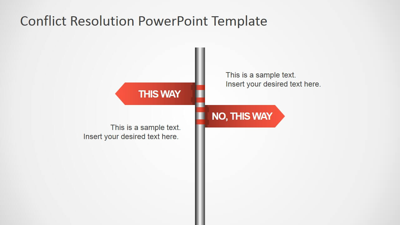 Traffic Sign This Way Arrows For Powerpoint - Slidemodel With Powerpoint Template Resolution