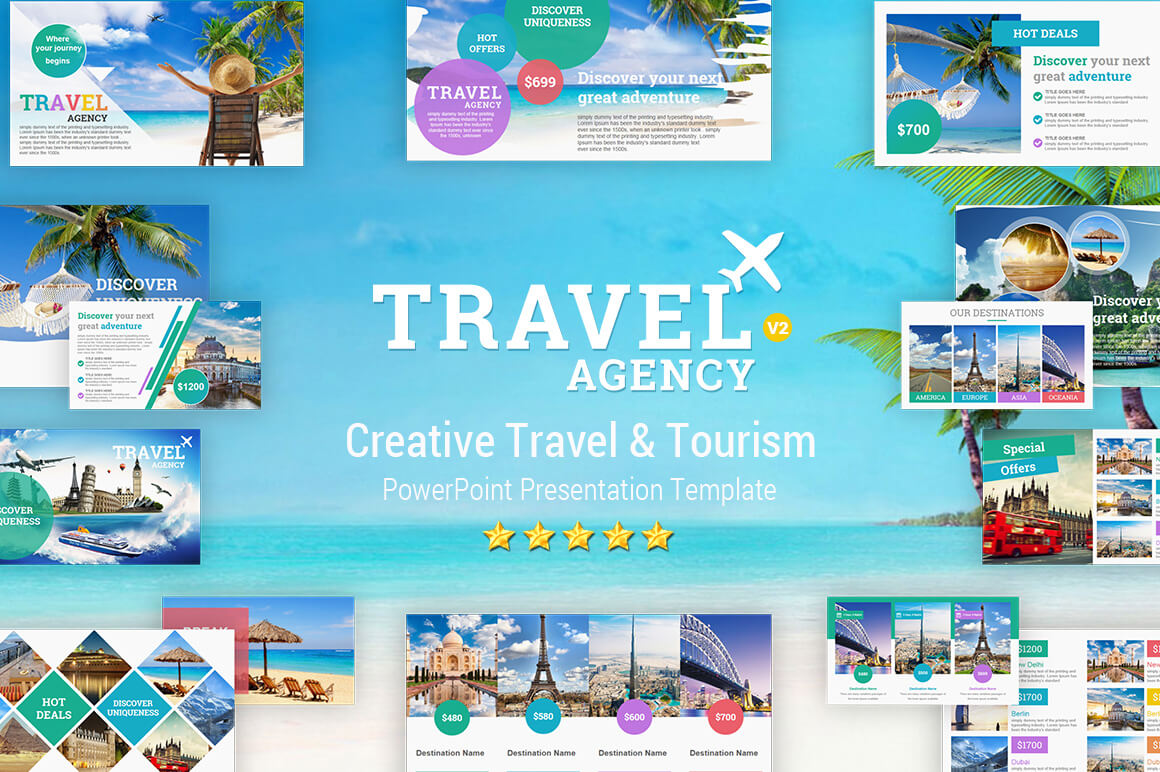 Travel And Tourism Powerpoint Presentation Template - Yekpix Intended For Powerpoint Templates Tourism