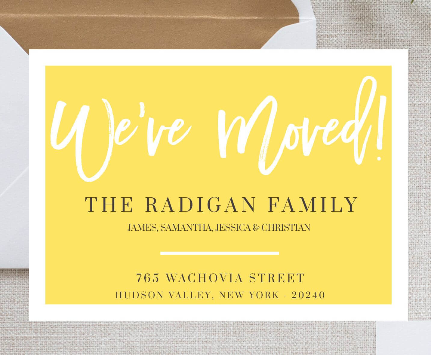 We Moved Card Template Moving Announcement Card We've With Moving Home Cards Template