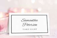 Wedding Place Card Template | Free Place Card Template within Free Place Card Templates Download