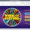 Wheel Of Fortune For Powerpoint – Gamestim Inside Wheel Of Fortune Powerpoint Template