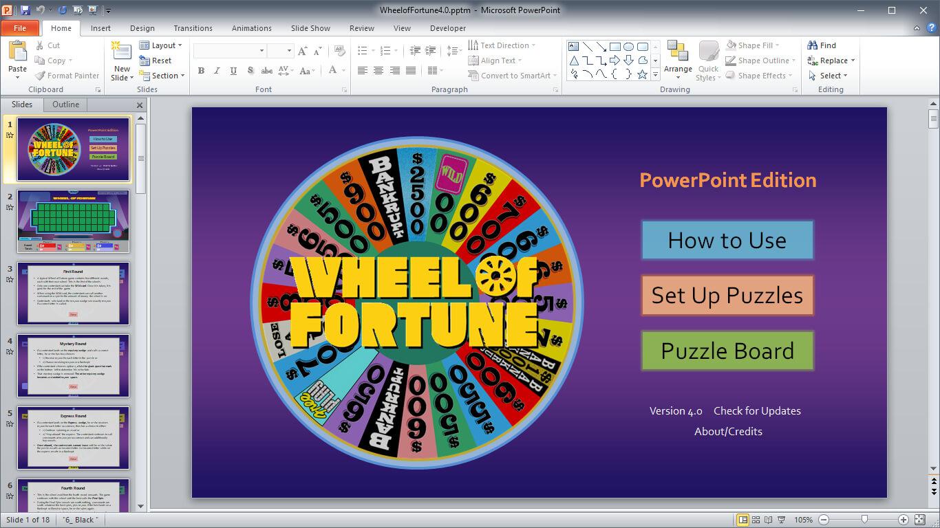 Wheel Of Fortune For Powerpoint - Gamestim Intended For Wheel Of Fortune Powerpoint Game Show Templates