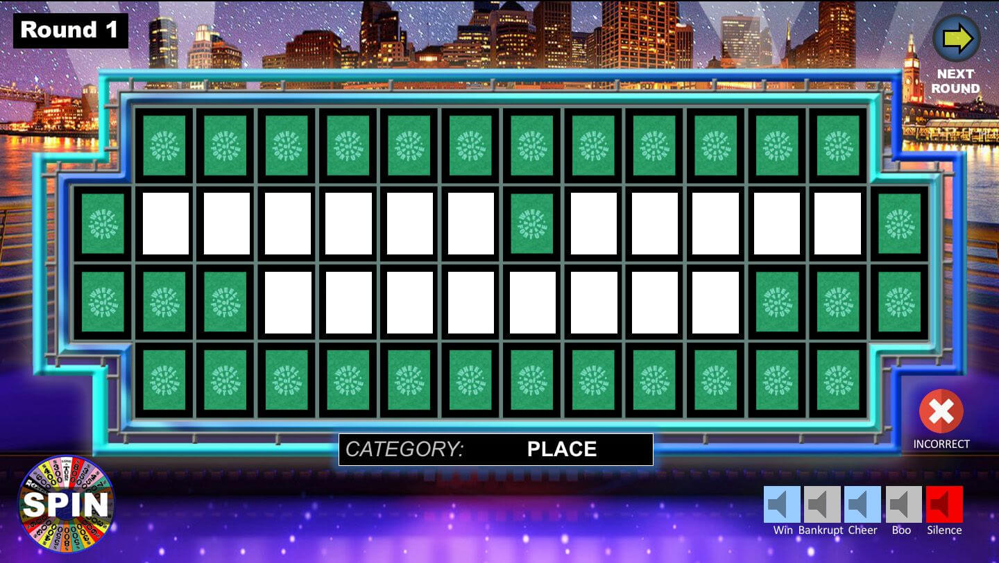 Wheel Of Fortune Powerpoint Game - Youth Downloadsyouth With Wheel Of Fortune Powerpoint Game Show Templates