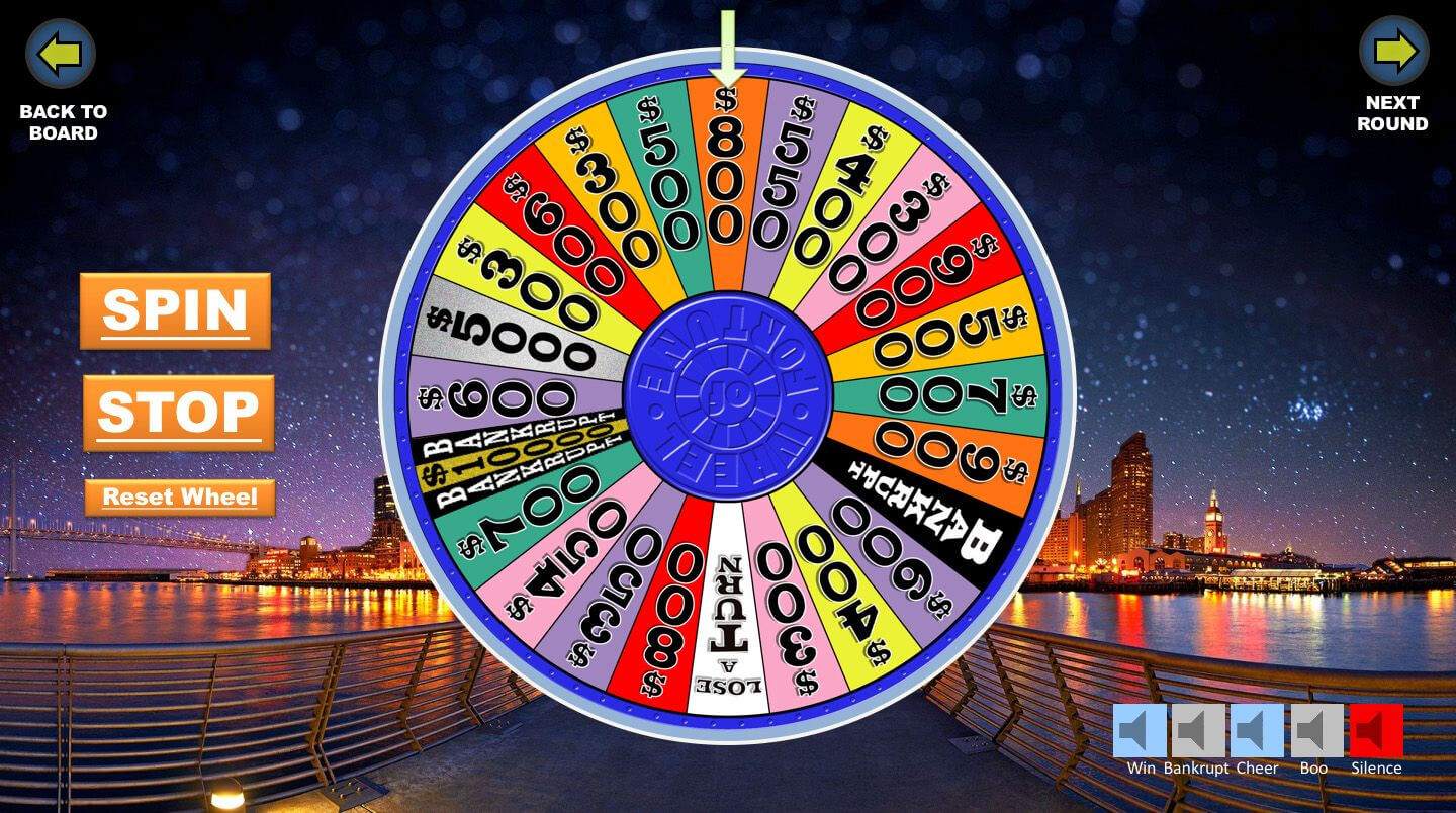 Wheel Of Fortune Spinning Wheel | Wheel Of Fortune Inside Wheel Of Fortune Powerpoint Template