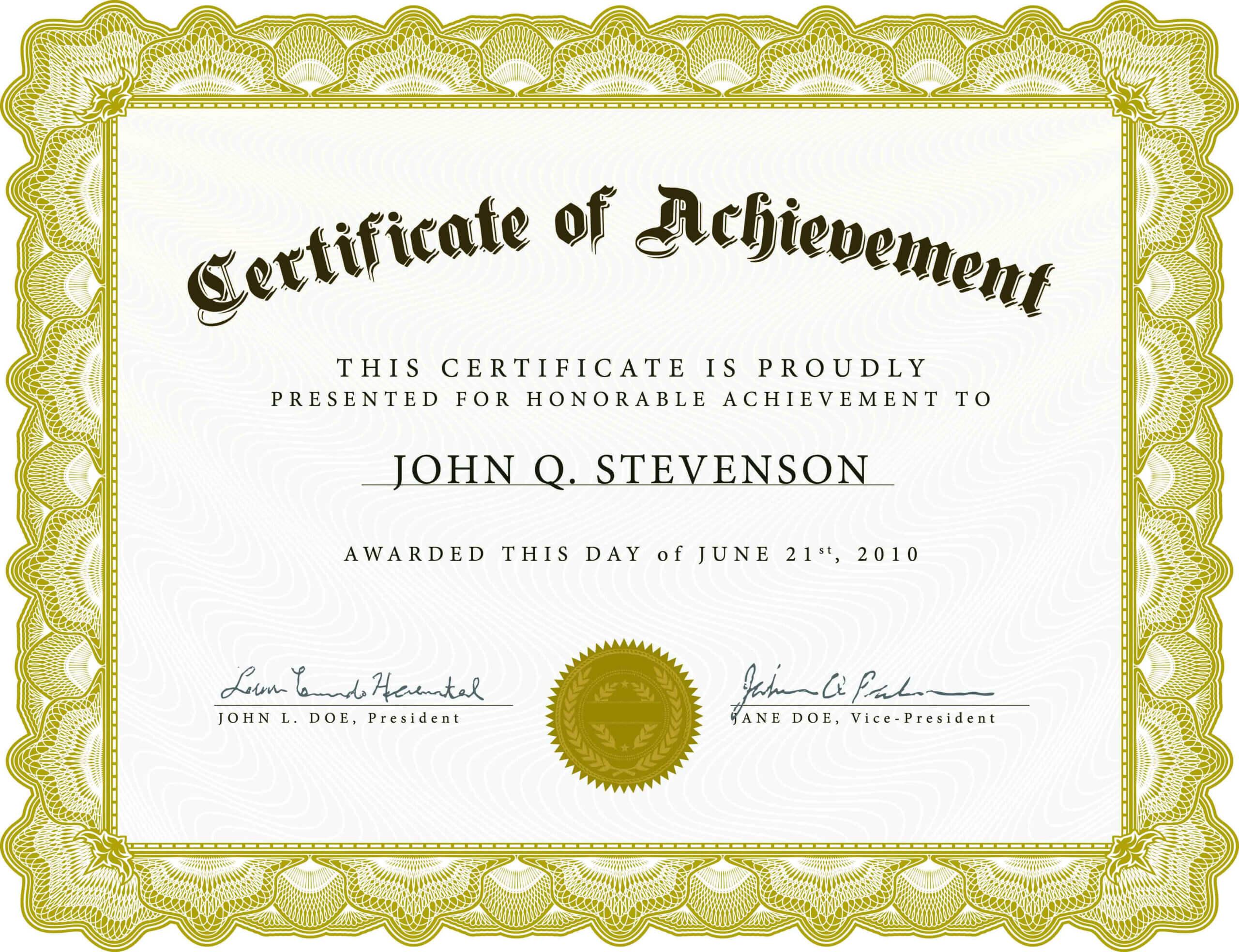 Word Award Template Printable Rental Agreement Lease Regarding Template For Certificate Of Award